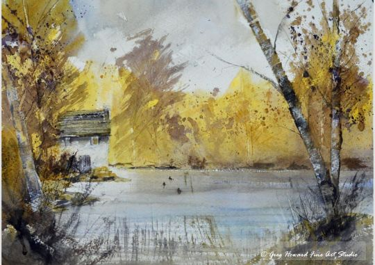 Autumn By The Lake I