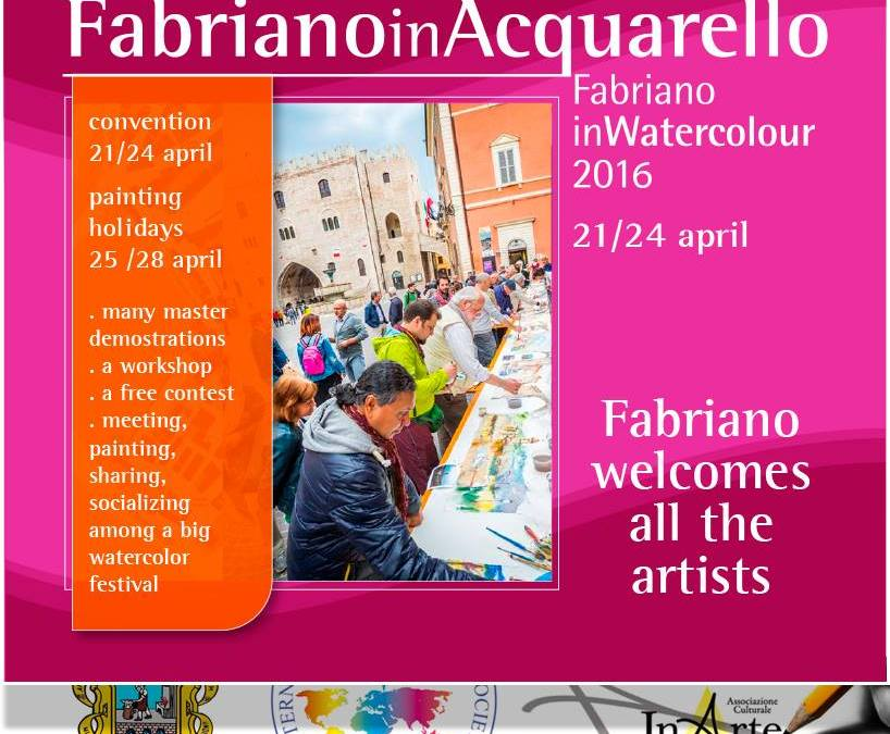 Selected for Fabriano In Watercolour 2016