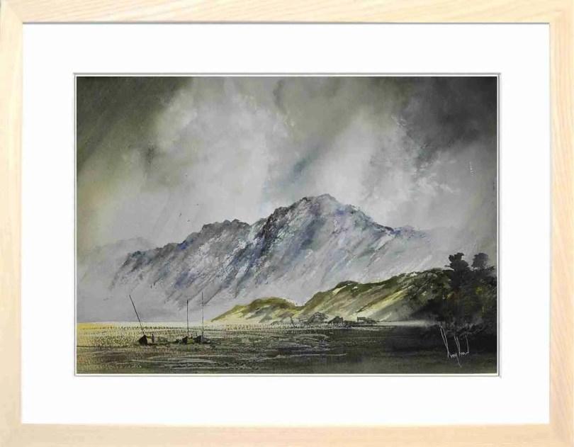 Framed Painting Across The Marshes I