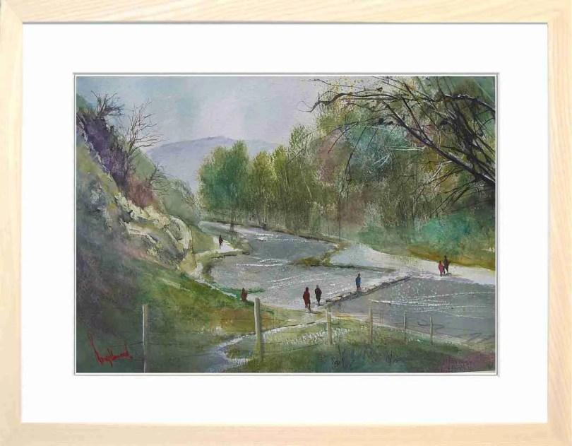 Framed Painting Dovedale Derbyshire