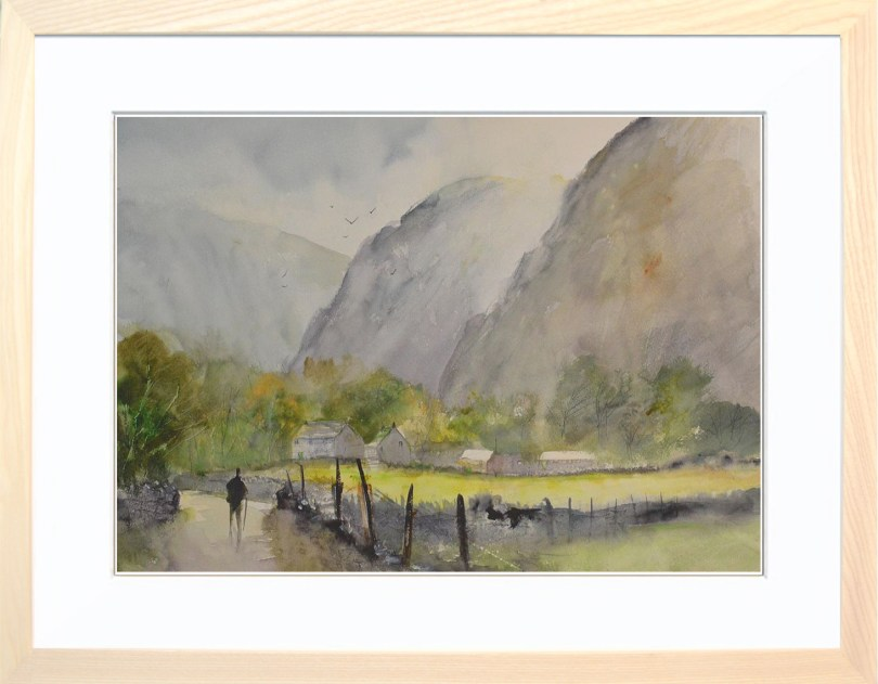 Framed Painting Early Morning In Borrowdale V