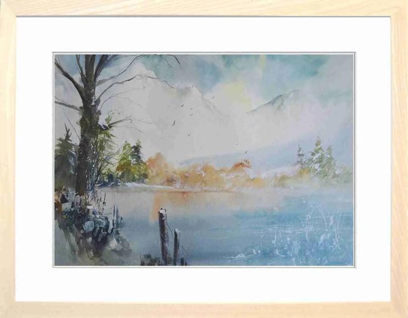 Framed Painting Frozen Tarn I