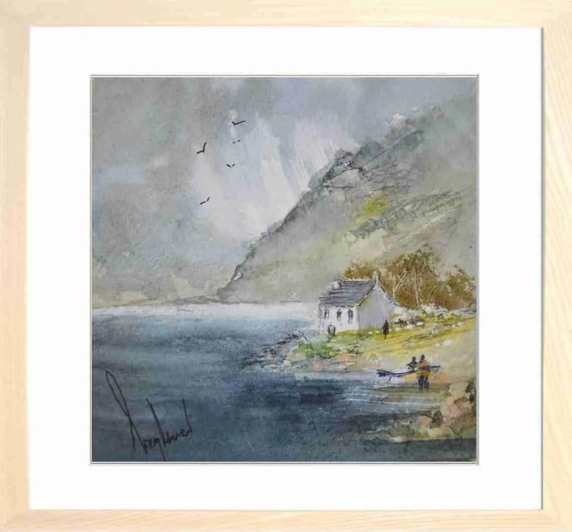 Framed Painting Highland Cottage I