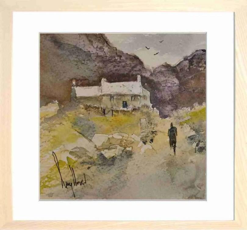 Framed Painting Highland Cottage II