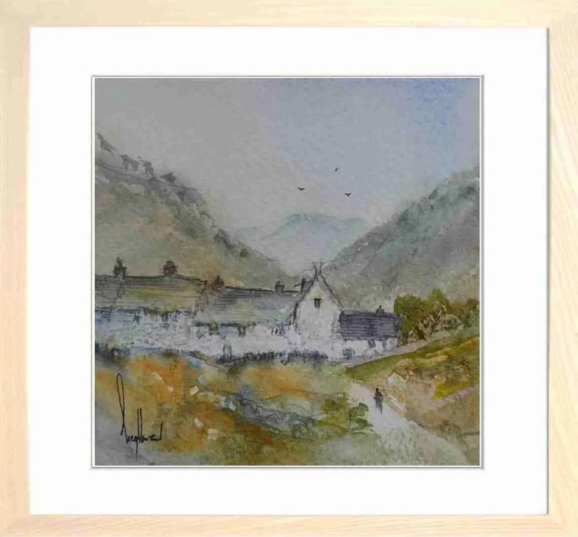 Framed Painting Lakeland Cottages I
