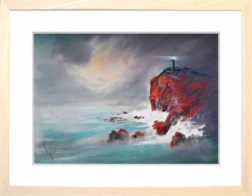 Framed Painting Light On The Point I