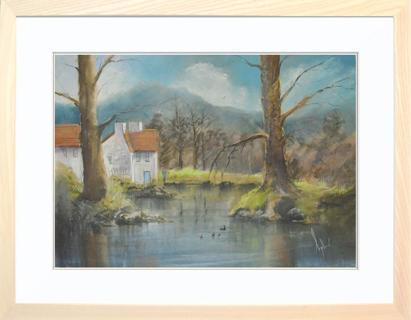 Framed Painting Living By The River