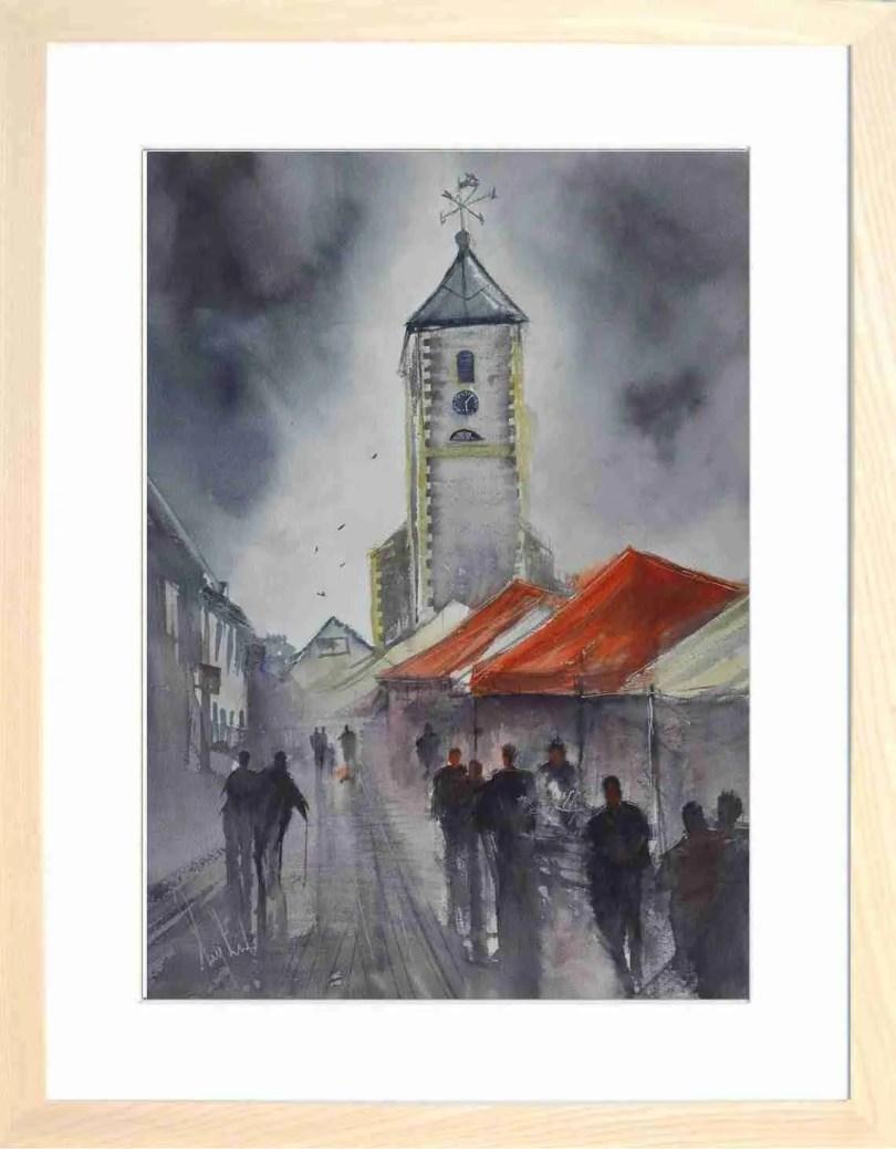 Framed Painting Market Day At Keswick