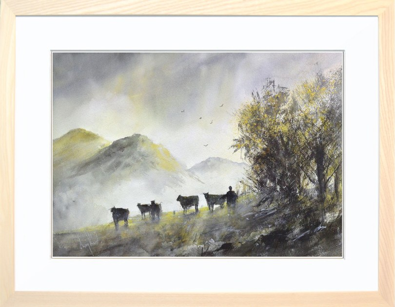 Framed Painting Milking Time
