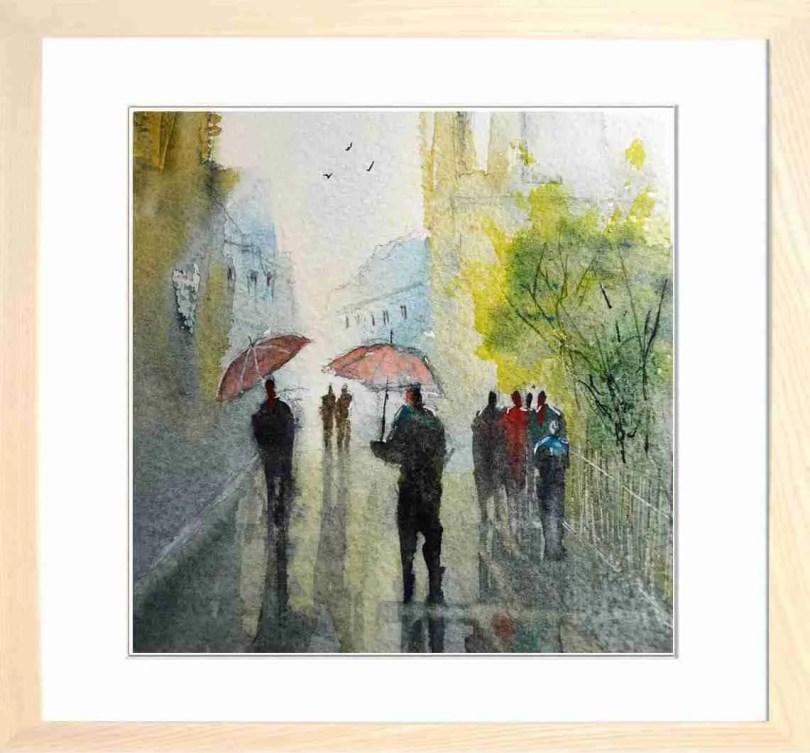 Framed Painting Rainy Day In The City I