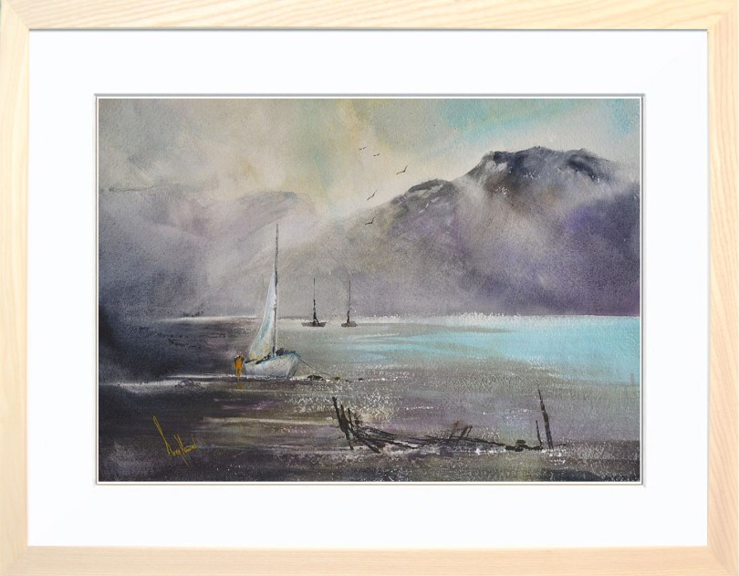 Framed Painting Setting Sail II