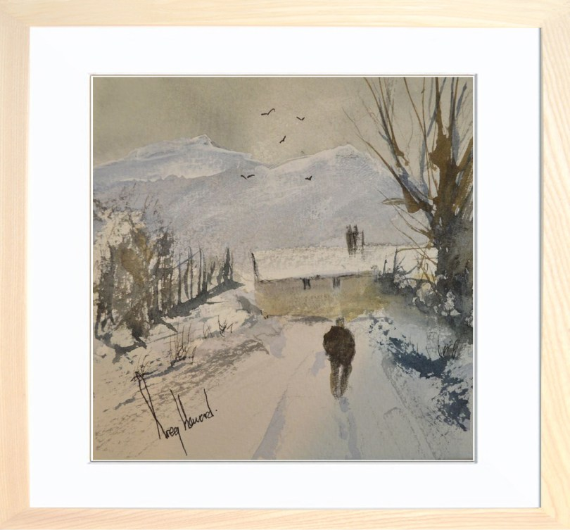Framed Painting Snow In The Valley I
