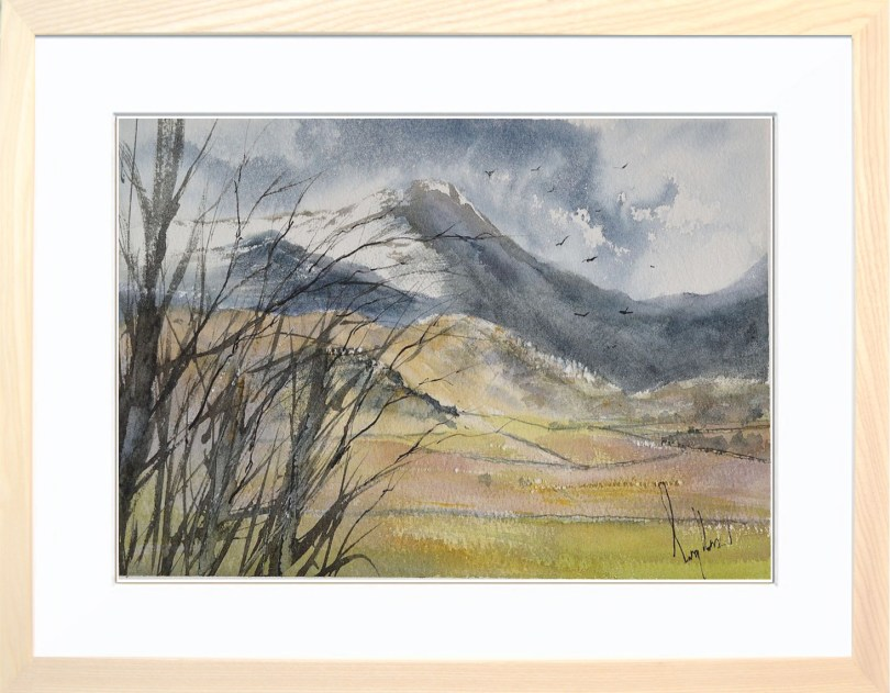 Framed Painting Snow On The Tops