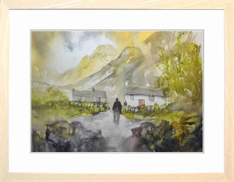 Framed Painting Sundown At Hilltop V