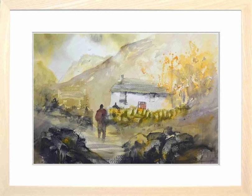 Framed Painting Sundown At Hilltop VI