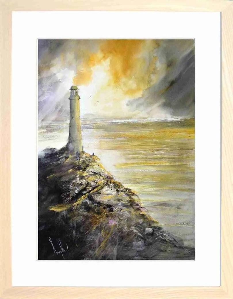Framed Painting Sundown Over Hoad