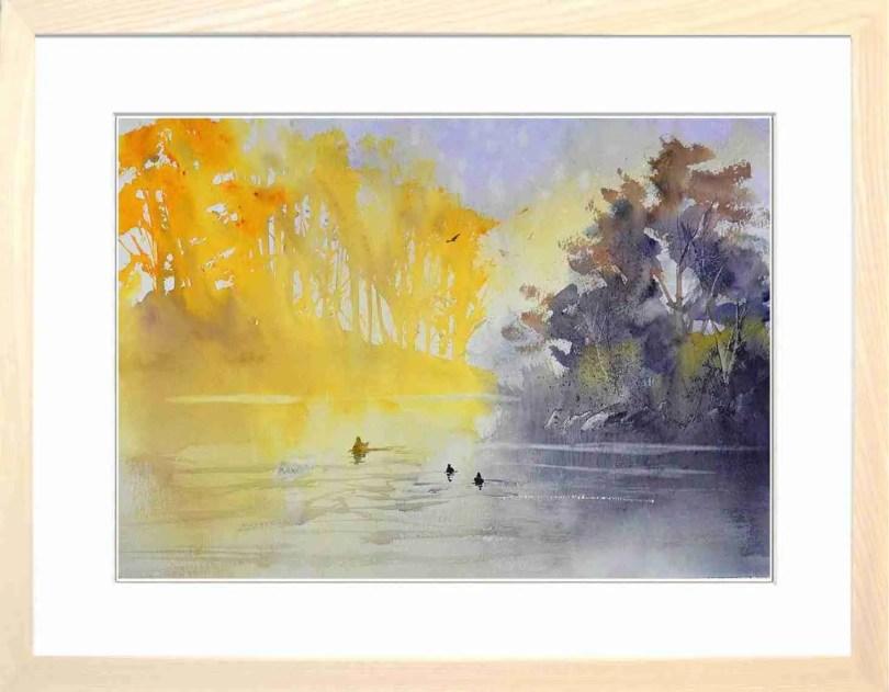 Framed Painting Three Ducks II