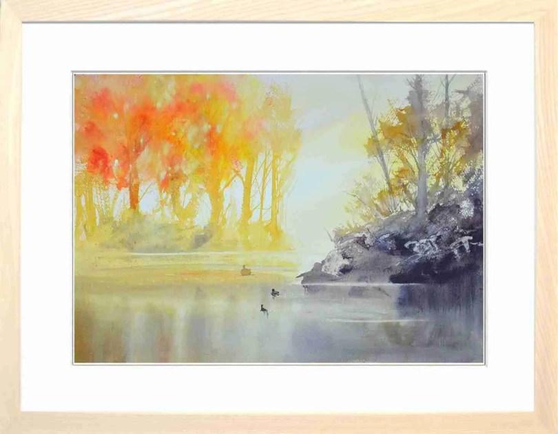 Framed Painting Three Ducks III