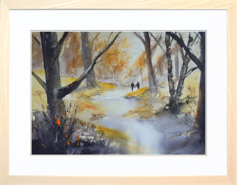 Framed Painting Walk Through The Woods V