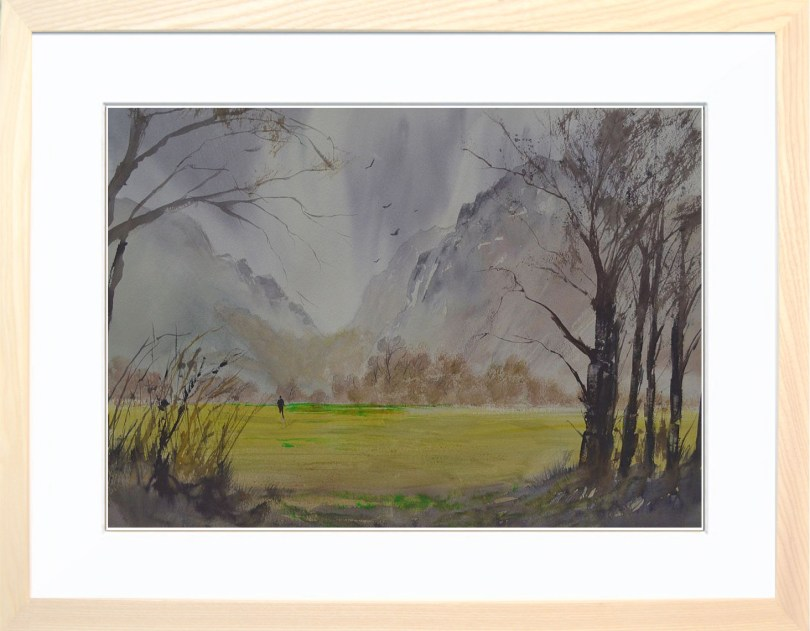 Framed Painting Windy Day In Buttermere IV
