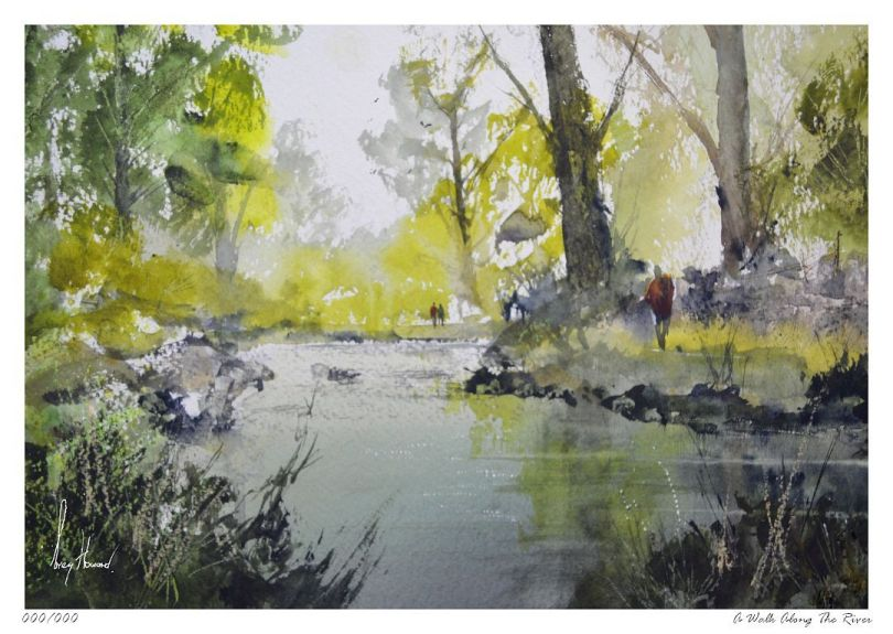 Limited Edition Print A Walk Along The River