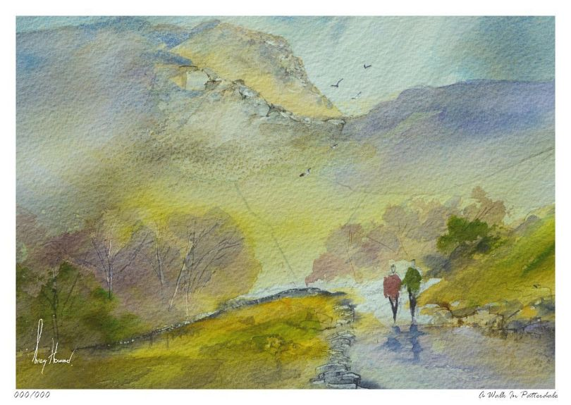 Limited Edition Print A Walk In Patterdale