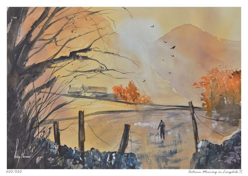 Limited Edition Print Autumn Morning In Langdale II