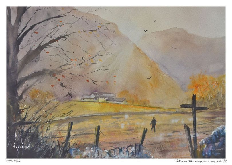 Limited Edition Print Autumn Morning In Langdale IV