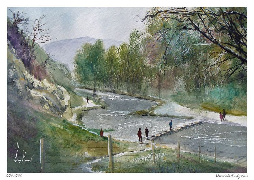 Limited Edition Print Dovedale Derbyshire