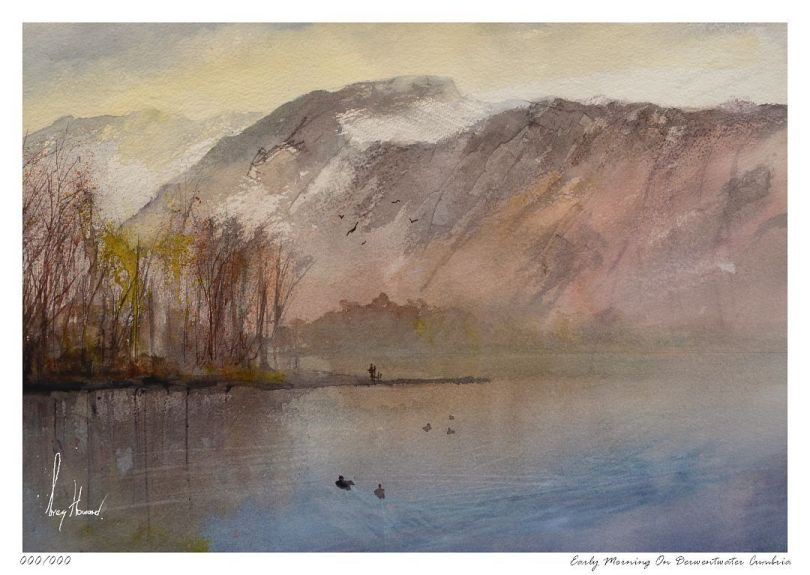Limited Edition Print Early Morning On Derwentwater Cumbria