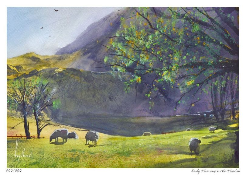 Limited Edition Print Early Morning In The Meadow