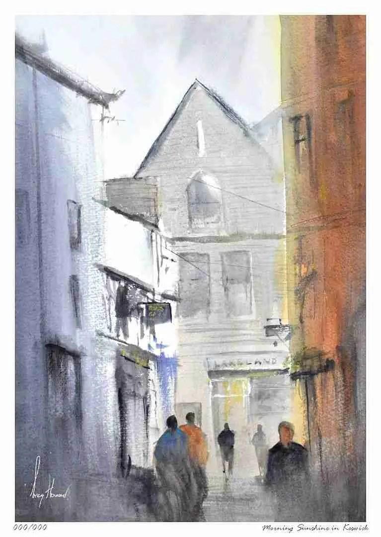 Limited Edition Print Morning Sunshine In Keswick