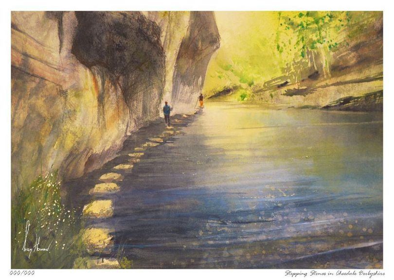 Limited Edition Print Stepping Stones In Cheedale Derbyshire