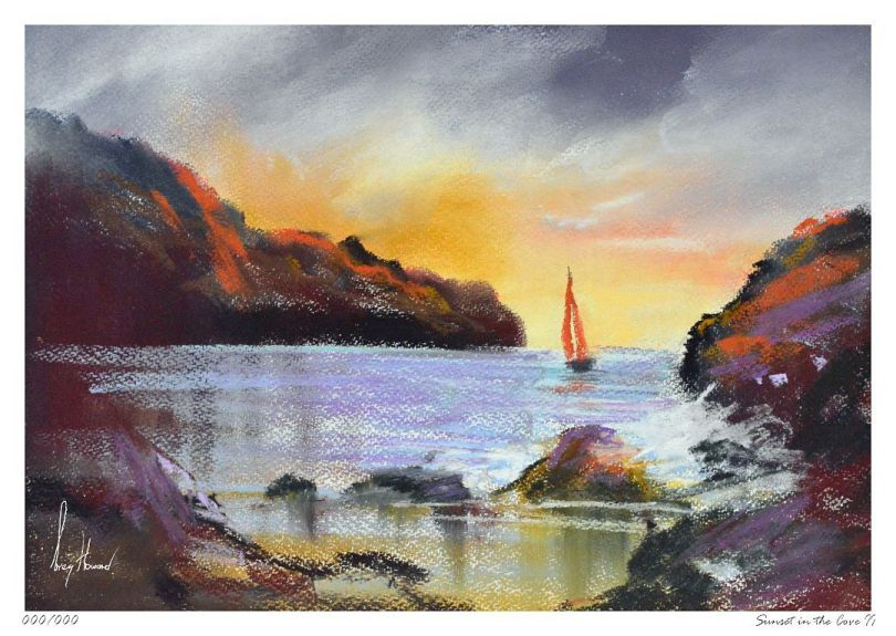 Limited Edition Print Sunset In The Cove II