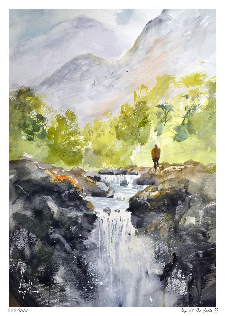 Limited Edition Print Up At The Falls II