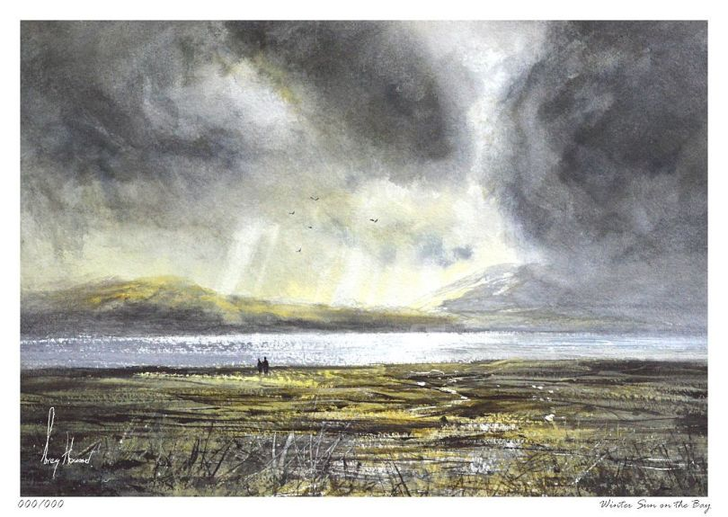 Limited Edition Print Winter Sun On The Bay