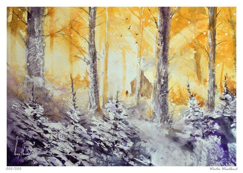 Limited Edition Print Winter Woodland