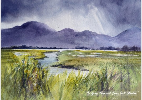 Stormy Day On The Marshes