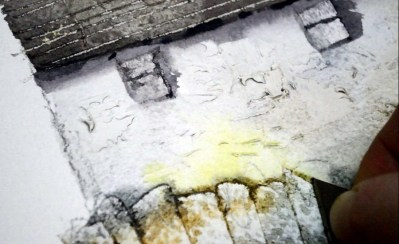 Tuition Painting Buildings & Stone Textures In Watercolour