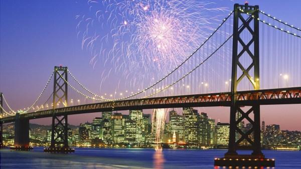 Fireworks Over San Francisco Bay