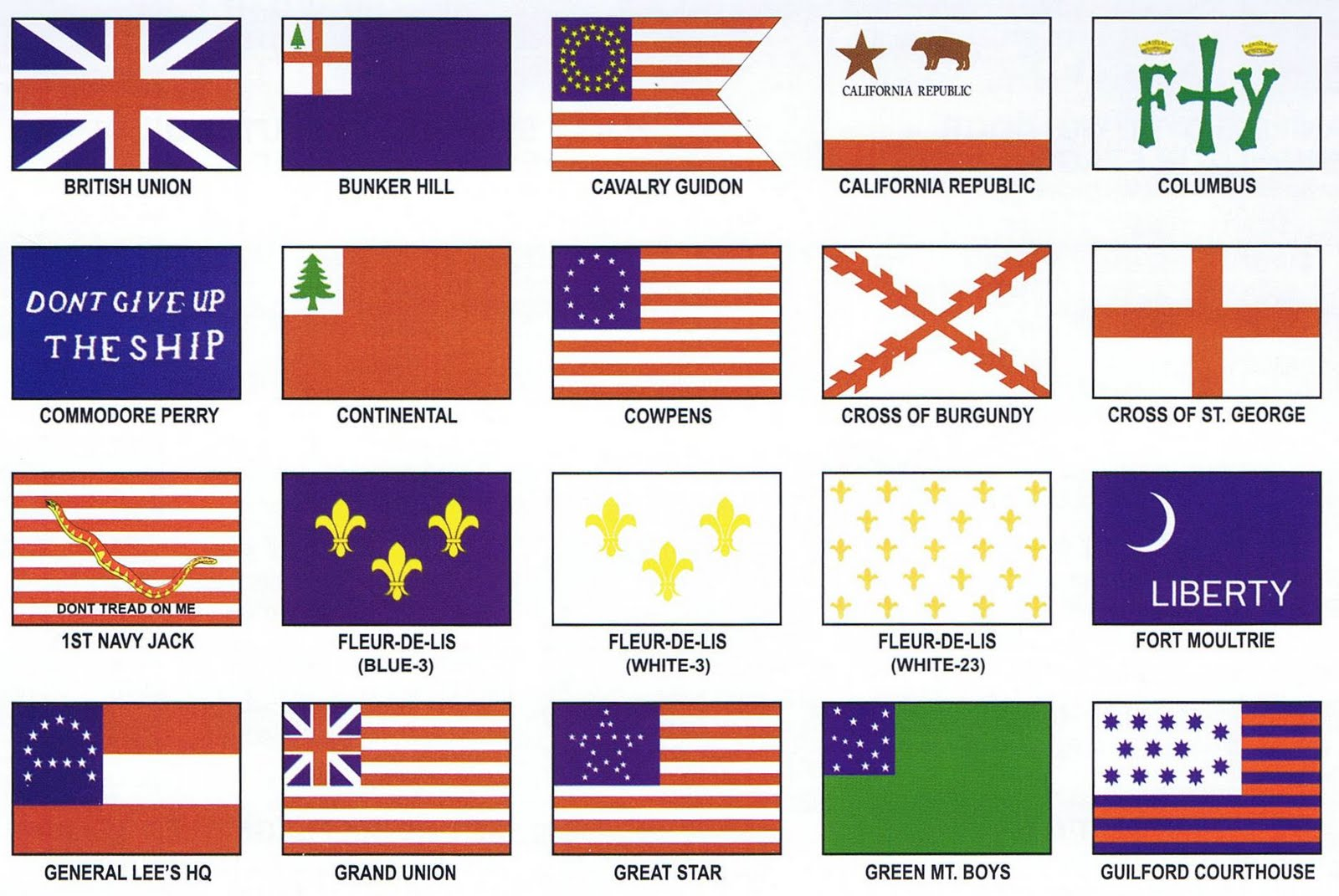 Historical United States Flags