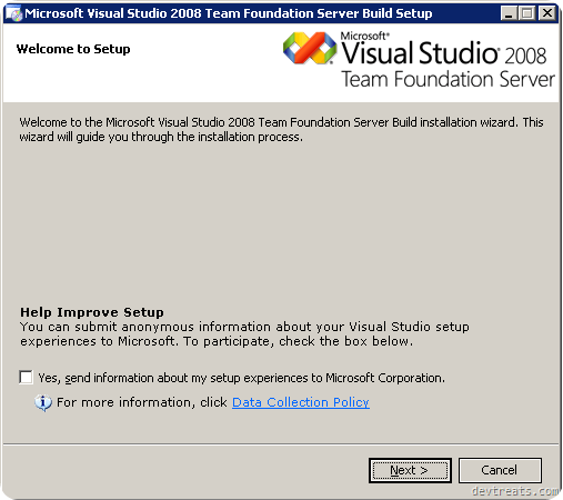TFS Install Wizard Feedback