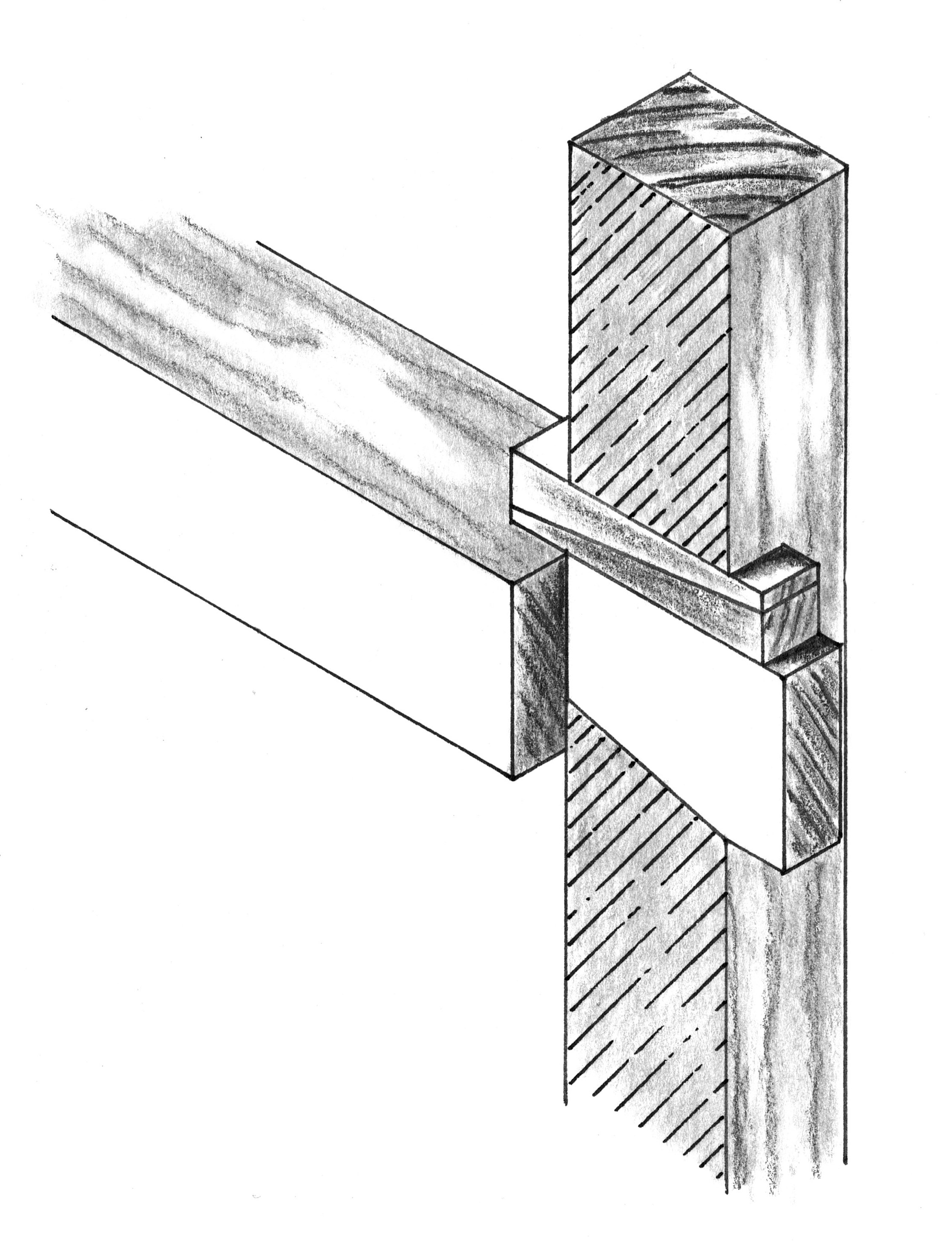 Blind Dovetail Thru Mortise And Tenon