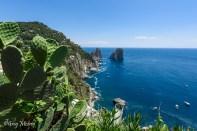 Le belvédère offert par les jardins d'Auguste à Capri