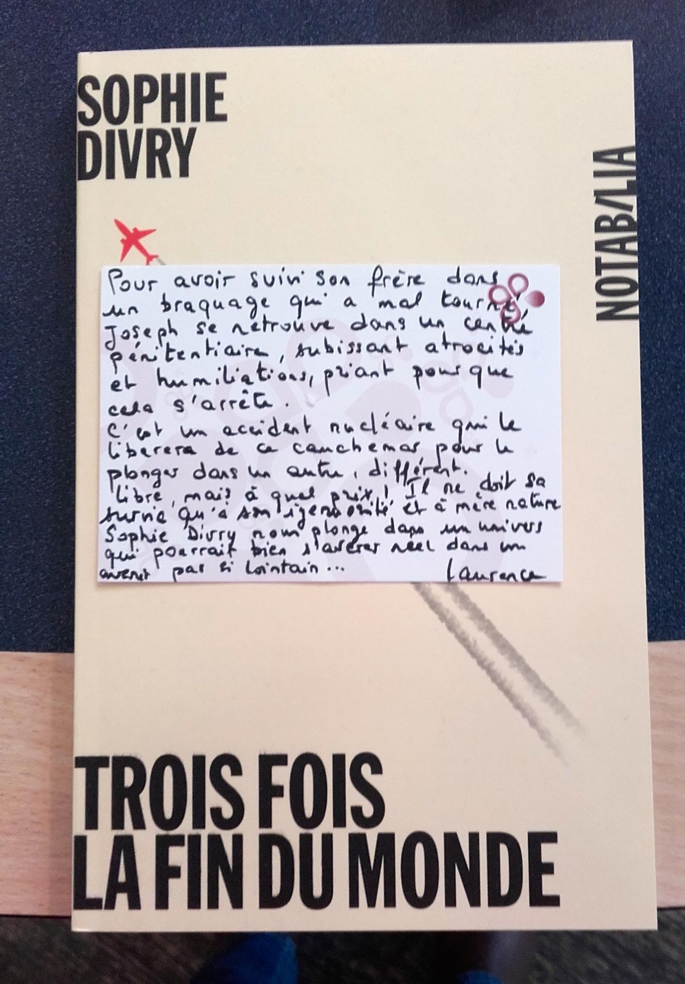 Trois Fois La Fin Du Monde : trois, monde, Invitée, Laurence, Gilardi, (5/5)., Grégoire, Delacourt.