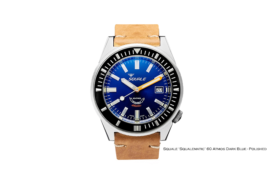 BNIB SQUALE (Swiss) 'Squalematic' Dark Blue 60 Atmos Diving Watch – ETA Cal. 2824