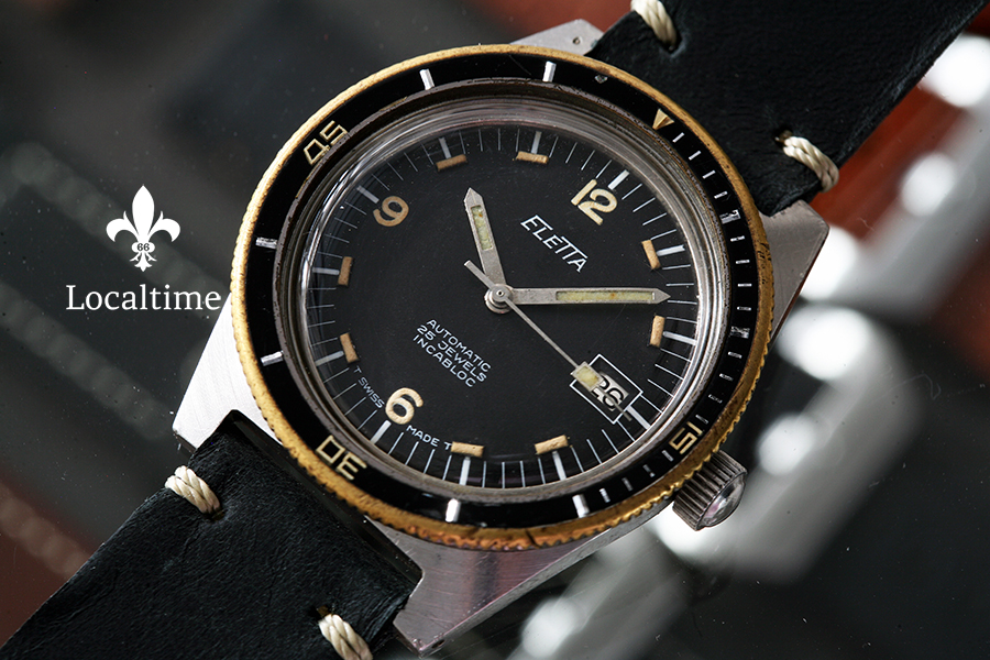 Mid-1960's ELETTA (Swiss) Steel Vintage 20ATM Diver Watch Automatic AS Cal. 1882