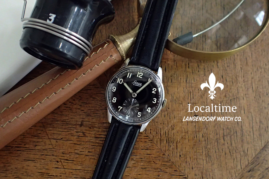 1950's LANCO (Langendorf Watch Co., Swiss) Manual Wind Military Style Cal. 1022