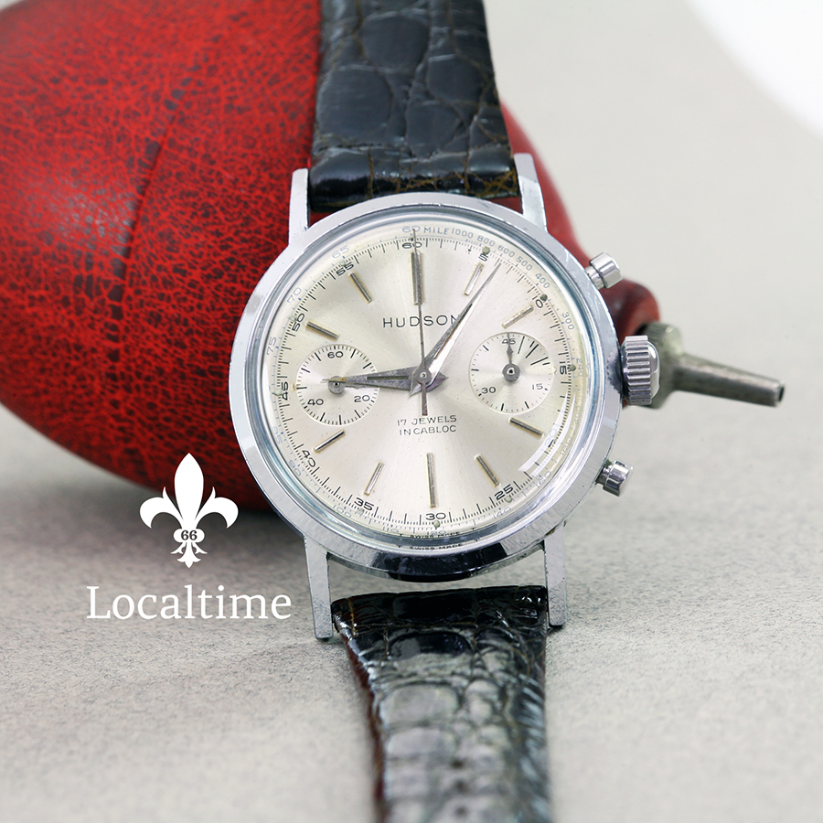 1950's HUDSON (By LePhare) Vintage Chronograph Mid-Size Watch – Venus Cal. 210