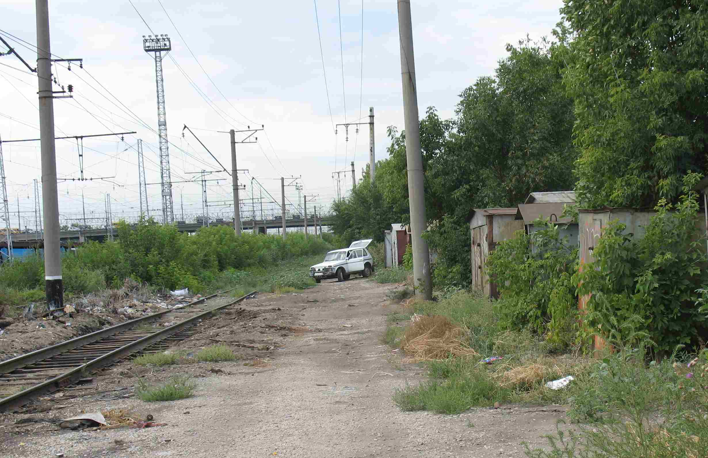 "Самара, слева под путепроводом на пр. Кирова (""старый мост"")"